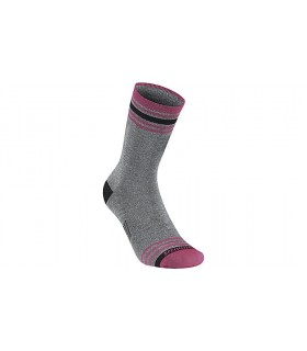 SPECIALIZED ANKLE STRIPE WINTER SOCK GRY/MAGENTA L