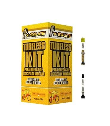 "KIT CONVERSOR TUBELESS 27,5"" X-SAUCE BTT VALVUL."